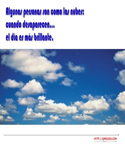 Algunas personas son como las nubes