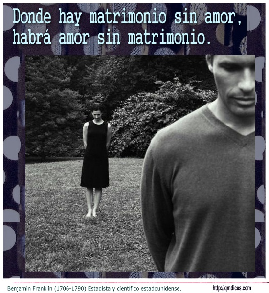 Donde hay matrimonio sin amor
