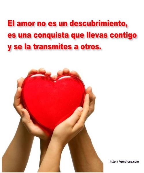 El amor no es un descubrimiento