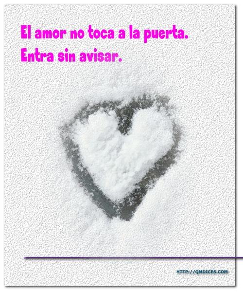 El amor no toca a la puerta...