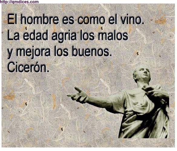 El hombre es como el vino...