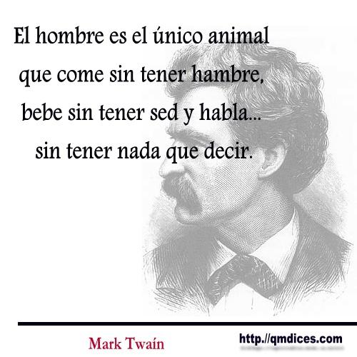 El hombre es el único animal