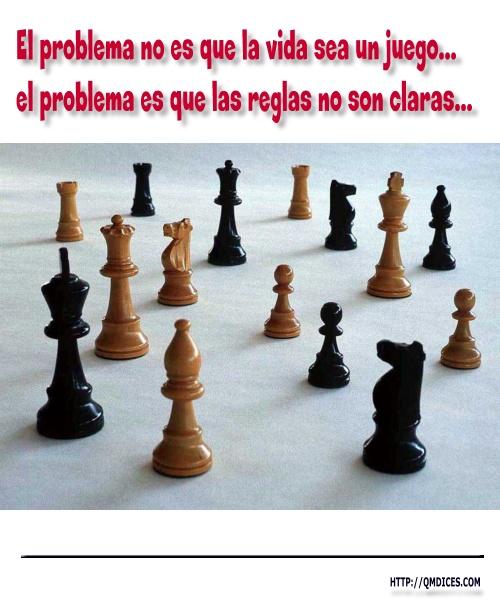 El problema no es que la vida sea un juego...