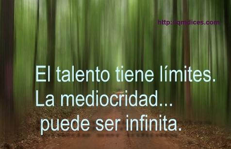 El talento tiene límites...