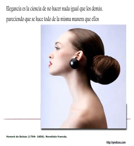 Elegancia es la ciencia de no hacer nada igual que los demás...