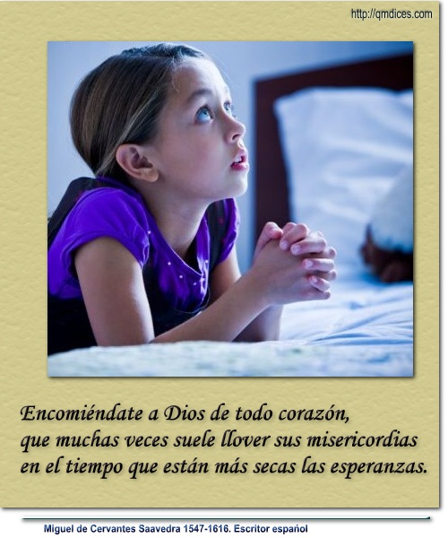 Encomiéndate a Dios de todo corazón