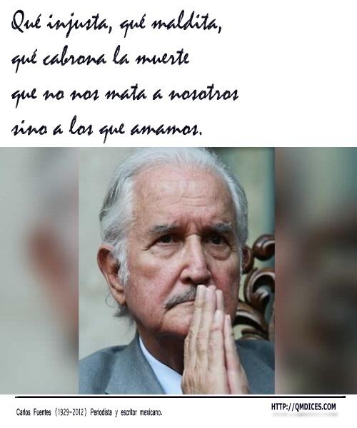 Frases Carlos Fuentes - Qué injusta, qué maldita,
