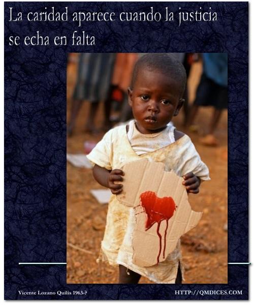 La caridad aparece ...