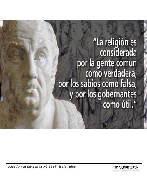 La religión es considerada por la gente común como...