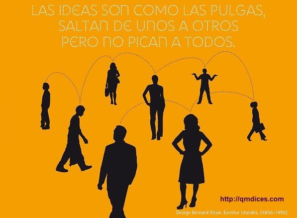 Las ideas son como las pulgas