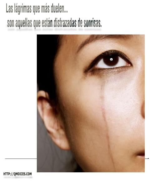 Las lágrimas que más duelen...