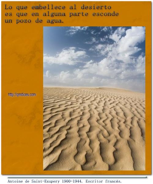 Lo que embellece al desierto