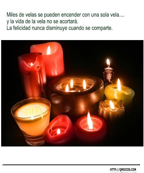 Miles de velas se pueden encender con una sola vela....