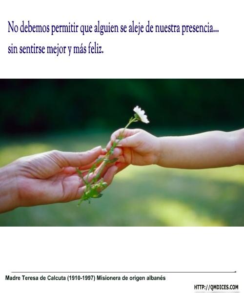 No debemos permitir que alguien se aleje de nuestra presencia...
