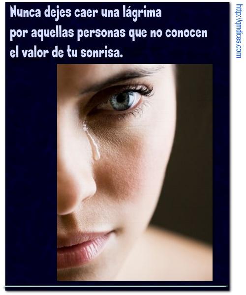 Nunca dejes caer una lágrima