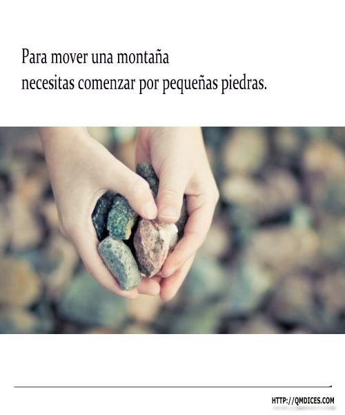 Para mover una montaña...