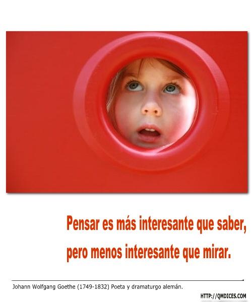 Pensar es más interesante que saber ...