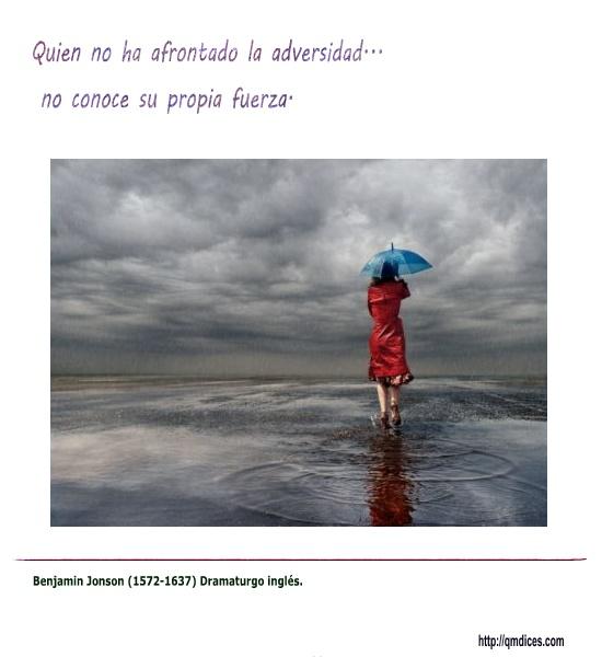 Quien no ha afrontado la adversidad...