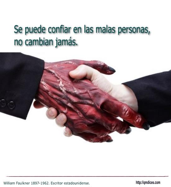 Se puede confiar en las malas personas ...