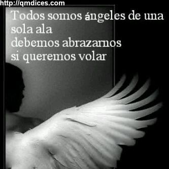 Todos somos ángeles de una sola ala...