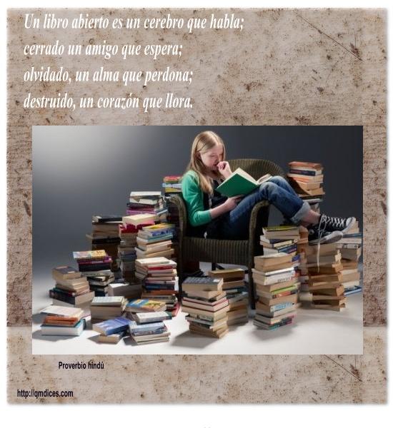Un libro abierto es un cerebro que habla