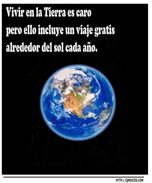 Vivir en la Tierra es caro ...