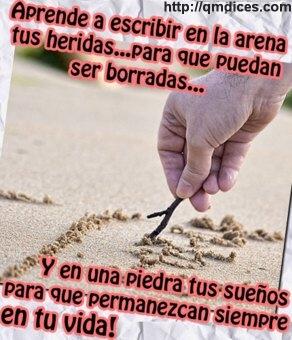 Aprende a escribir en la arena...