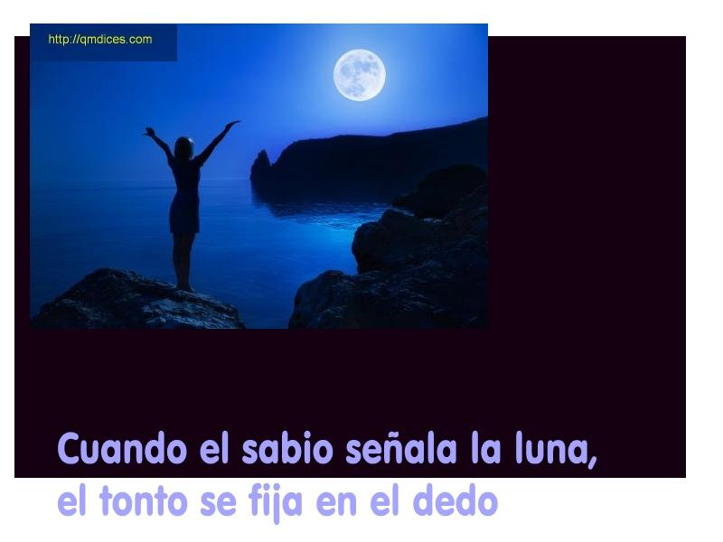 Cuando el sabio señala la luna