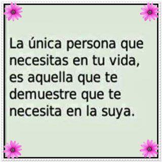 La única persona que necesitas...