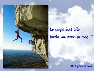Lo imposible solo tarda...