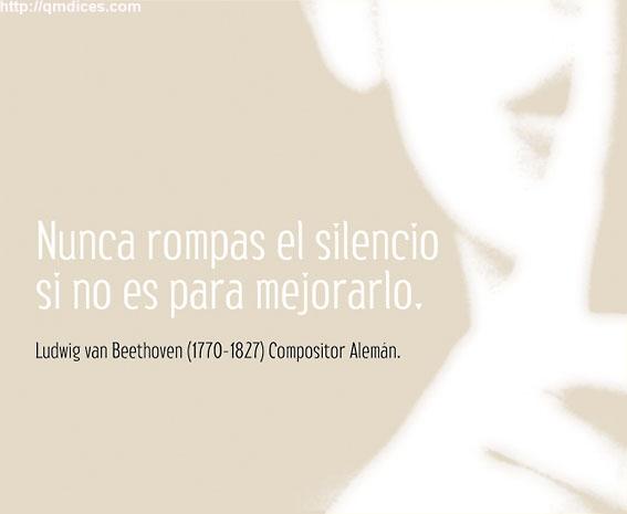 Nunca rompas el silencio